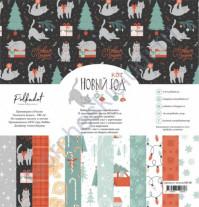 Набор бумаги Новый кот, 30.5х30.5 см, 190 гр/м, 12 двусторонних листов + 2 листа с карточками