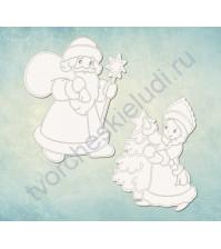 Чипборд набор Дед Мороз и Снегурочка, 2 элемента