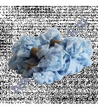 Шебби-лента мятая, Небесный голубой, ширина 14мм, 1 метр