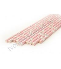 Бумажная трубочк Розовый ветер, 19.5 см, 1 шт