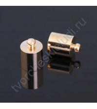 Концевик-шапочка, 9 мм, цвет золото