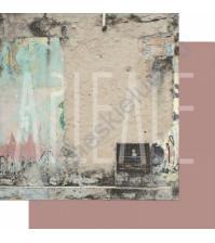 Бумага для скрапбукинга двусторонняя, коллекция ФОНОteka II, 30.5х30.5 см плотность 190г/м, лист Следы жизни
