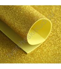 Фоамиран с глиттером, 1.8 мм, формат А4, цвет желтый блеск