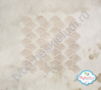 Трафарет пластиковый Волны, 15х15 см
