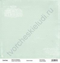 Бумага для скрапбукинга односторонняя, коллекция Базовая зеленая, 30х30 см, 250 гр/м2, лист Сердечки