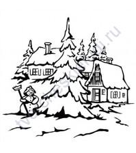 Папка для тиснения Снеговик-2, 12.5х12.5 см