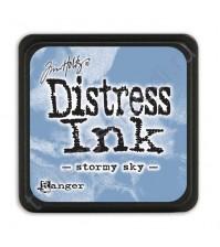 Штемпельная мини-подушечка Tim Holtz Distress Mini Ink Pads на водной основе, 2.5х2.5 см, цвет штормовое небо (stormy sky)