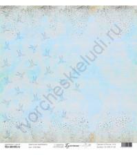 Бумага для скрапбукинга односторонняя, коллекция Бумажные птицы, 30.5х30.5 см, 190 гр\м2, лист Оригами