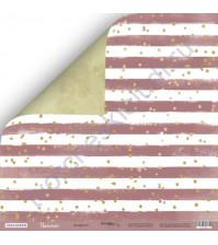 Бумага для скрапбукинга двусторонняя 30.5х30.5 см, 190 гр/м, коллекция Unicorns, лист Конфетти