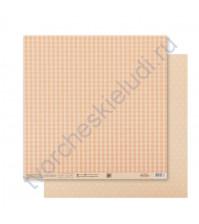 Бумага для скрапбукинга двусторонняя Базовая 30.5х30.5 см, 180 гр/м2, лист Бежевый