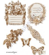 Набор вырубки из пленки Antique Mirror Romantique, 6 элементов