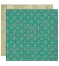 Бумага для скрапбукинга двусторонняя коллекция Natural, 30.5х30.5 см, 220 гр/м, лист Beaming