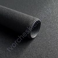 Кожзам переплетный на полиуретановой основе с фактурой глиттерплотность 280 гр/м2, 33х70 см, цвет 7807-черный