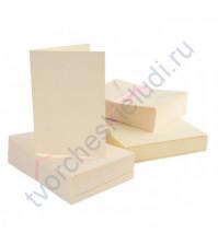 Заготовка для открытки с конвертом, формат A6, цвет кремовый, 1 шт