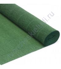 Гофрированная бумага плотность 144 гр/м2, 50см х 2.5м, цвет 591-болотно-зеленый