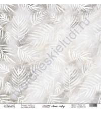 Бумага для скрапбукинга односторонняя, коллекция Маша и медведь, 30.5х30.5 см, 190 гр\м2, лист Узоры на стекле