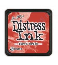 Штемпельная мини-подушечка Tim Holtz Distress Mini Ink Pads на водной основе, 2.5х2.5 см, цвет обожженный кирпич (fired brick)