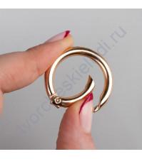 Кольцо-карабин, 0.5х2.5 см, цвет золото