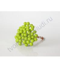 Ягодки 8 мм, 10 ягодок, цвет светло зелёный