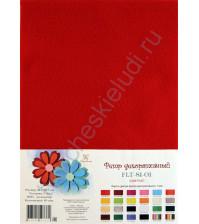 Лист фетра 21х29.7см, 1 мм, цвет красный