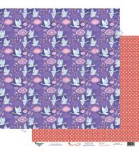 Бумага для скрапбукинга двусторонняя 30.5х30.5 см, 190 гр/м2, коллекция Жили-были, лист Гуси-лебеди