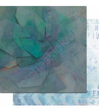 Бумага для скрапбукинга двусторонняя, коллекция Фрагменты, 30.3х30.3 см, 200 гр/м, лист 005