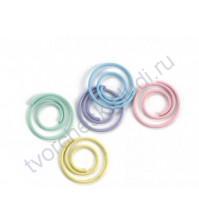 Набор декоративных скрепок Спираль, 12 мм, 25 шт, цвет пастельный микс