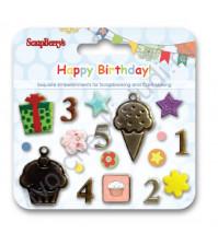 Набор декоративных брадсов С Днем Рождения SCB340919