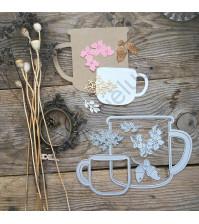 Набор ножей для вырубки Лесной чай, 6 элементов