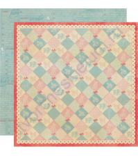Бумага для скрапбукинга двусторонняя коллекция Precious, 30.5х30.5 см, 220 гр/м, лист Patchwork