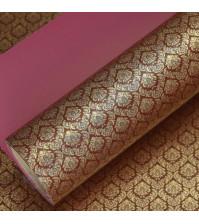 Бумага упаковочная двусторонняя Королевская лилия, 80 гр/м2, ширина 53 см, длина 1 метр, цвет бордовый