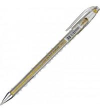 Ручка гелевая 0.7 мм, цвет золото