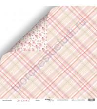 Бумага для скрапбукинга двусторонняя 30.5х30.5 см, 190 гр/м, коллекция So Loved, лист Линия