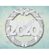 Форма силиконовая (молд) Венок 2020-1, 50х50 мм