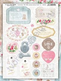 Набор вырубных элементов (чипборд) Tea Time, 19 элементов, размер листа 21х29.7 см