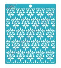 Трафарет пластиковый Дамаск, 14.6х16.4 см