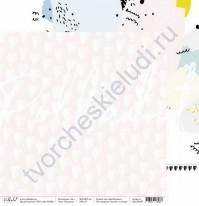 Бумага для скрапбукинга двусторонняя, коллекция 16+, 30.5х30.5 см, 190 гр\м2, лист Рисунки