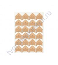 Уголки клеящиеся для фотографий бумажные, 15х15 мм, 24 шт, цвет крафт