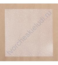 Прозрачный ацетатный лист с фольгированием Золотое сияние, 20х20 см