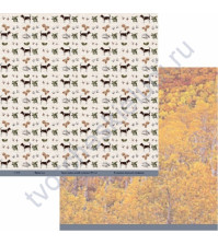 Бумага для скрапбукинга двусторонняя коллекция Мужское дело, 30.5х30.5 см, 190 гр/м, лист Верный друг