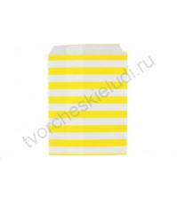 Пакет бумажный Полоска желтый, 13х18 см, 1 шт.