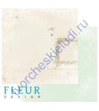 Лист бумаги для скрапбукинга Поющие птицы , коллекция Цветущая весна,30 на 30, плотность 190 гр