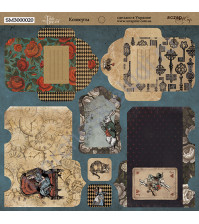 Лист для вырезания Конверты, коллекция Time to Dream, 20х20 см, 190 г/м