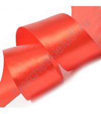 Лента атласная 50 мм, цвет красный-104, 1 метр