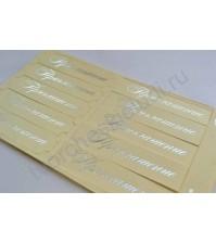 Набор шильдиков для скрапбукинга Приглашение, 10 штук, цвет серебро на матовом кремовом