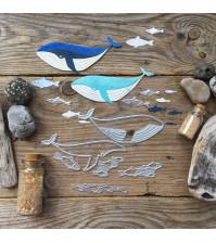 Набор ножей для вырубки и тиснения Без кита и жизнь не та, 6 элементов