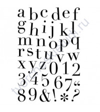 Набор штампов Chelsea Alphabet, 41 элемент, размер набора 12х18 см