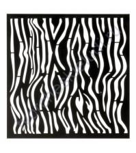 Трафарет для творчества Зебра, 15х15 см
