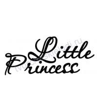 Декор из термотрансферной пленки, надпись Little Princess, 9.4х3.9 см см, цвет в ассортименте