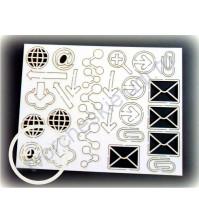 Набор чипборда Знаки, 32 элемента